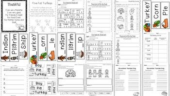 November- Math and Literacy Unit by Elizabeth Hall- Kickin
