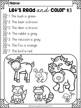 November Reading Comprehension Activities by Teaching