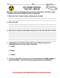 Nuclear Chemistry Worksheet Answers Worksheets For School ...