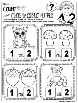 Number 2 Math Worksheets-NO PREP (PRE-KG EDITION
