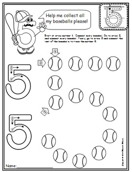 Number 5 Math Worksheets-NO PREP (PRE-KG EDITION