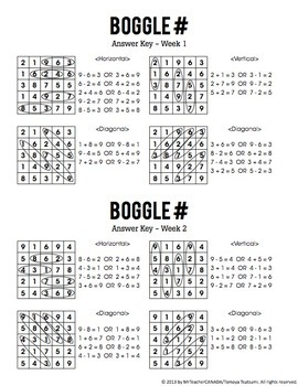 Number Boggle Complete Package (40 Weekly Worksheets