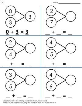 Number Bond Worksheets by Once a Teacher Always a Teacher
