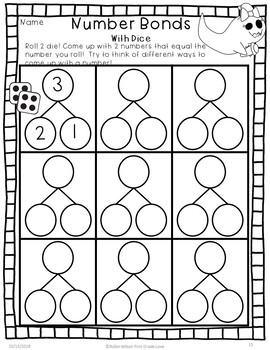 Number Bonds First Grade Halloween by Robin Wilson First
