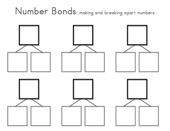 Number Bonds Template by Works of Heart Teachers Pay