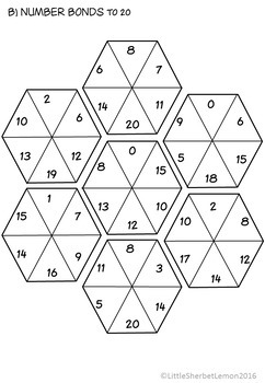 Number Bonds to 10 & 20 Puzzles / Jigsaws by Little