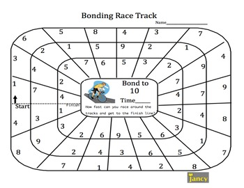 Number Bonds to 10 Race Track by JANCY Teaching MATH For