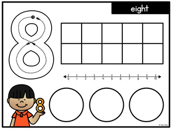 Number Centres: Number Make It 2! {Play Dough Mats/Puzzle
