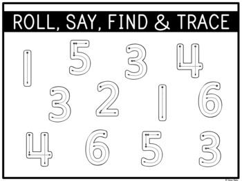 Number Centres: Number Roll It! by A Pinch of Kinder