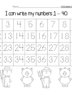 Number chart farm pig theme also by fanciful first grade tpt rh teacherspayteachers