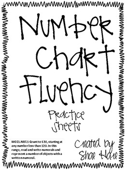 Number Chart Fluency- Common Core Math Pactice Worksheets