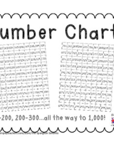 Number charts packet also numbers chart teaching resources teachers pay rh teacherspayteachers