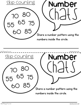Number Chats Skip Counting and Number Patterns First Grade