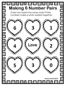 Number Combinations to Ten Monthly Kindergarten Common