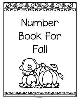 Number Counting Book for Fall 1-20 No-Prep Printables by