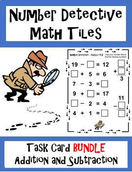 Number Detective : number, detective, Number, Detective, Tiles, BUNDLE, Addition, Subtraction, Cards