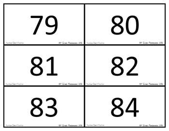 Number Identification Fluency Games and Flash Cards