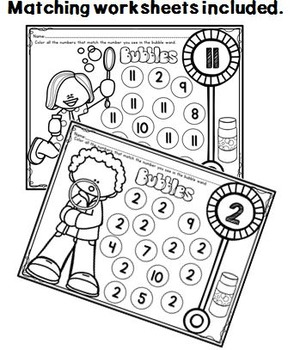 Number Identification PROMETHEAN BOARD Flip Chart and