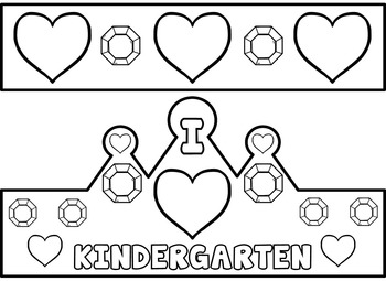 Back to School Crowns (First Day of School Kindergarten