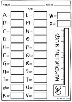 Number Line Slugs {3 Digit Numbers Math Center / Game} by