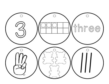 Number Necklaces [Hands-On Counting and Cardinality