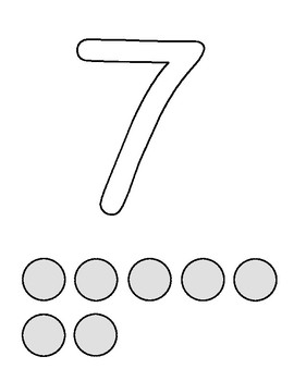 Number Outlines Dough Mats: 1-10 by The Kinder Core Store