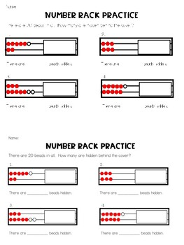 Number Rack- How Many Are Hidden: Exit Ticket by Wid's