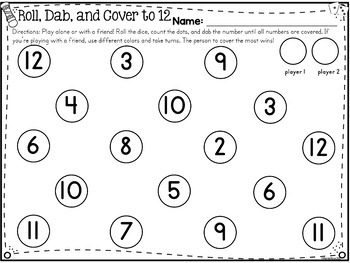 Number Sense Activities & Math: Dab & Learn Print & Go