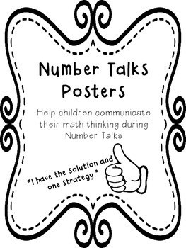 Number Talks Posters: Hand Signals and Communication by