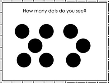 Number Talks Subitizing Dot Slides by Kindergarten Is