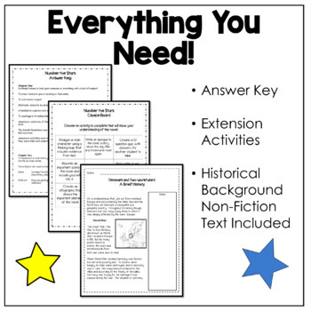 Number The Stars Novel Study-Comprehension Questions by