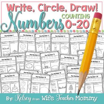 number worksheets 0 20