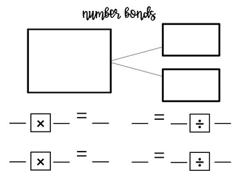 Number bond, fact family, bar model templates by