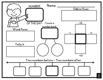 Number of the Day Differentiated Dry Erase Worksheets by