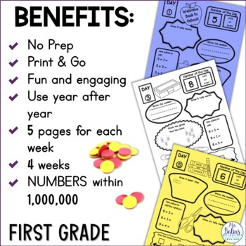 Place Value Worksheets Math First Grade Place Value Number