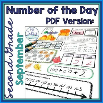 Place Value Worksheets Second Grade Math Fall Number of