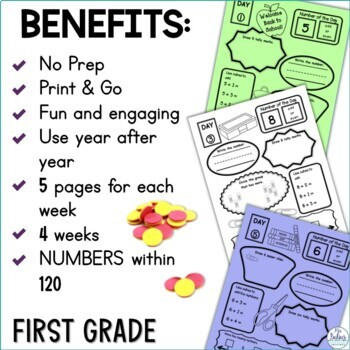 Back to School First Grade Math Place Value Number of the