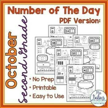 Halloween Math Place Value Morning Work Second Grade Math