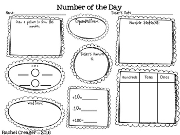 Number of the Day Second Grade Common Core by Mrs C's