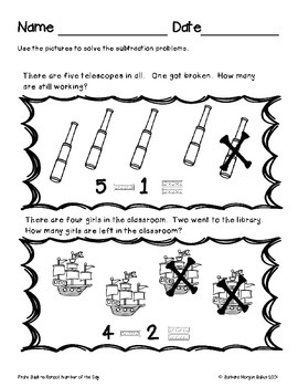 Number of the Day Word Problem Sample Printables {Pirate