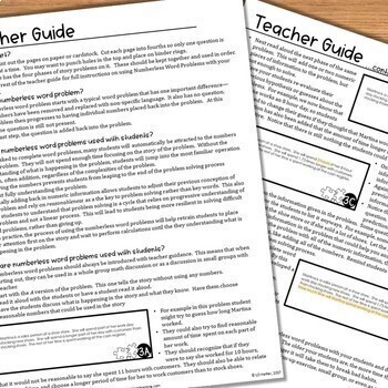 Numberless Word Problems Bundle for 5th Grade Math by Leaf