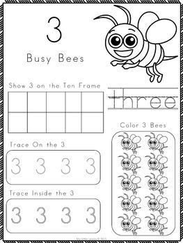 Numbers 0-20 Bundle: Worksheets, Number Posters, Tracing