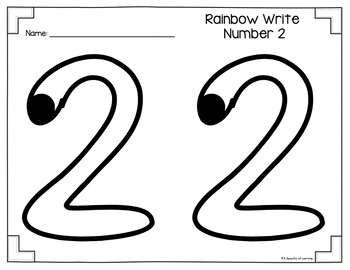 Numbers 1-10 Rainbow Write And Fill the Numbers by A