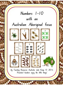 Numbers 1 10 With An Australian Aboriginal Focus TpT