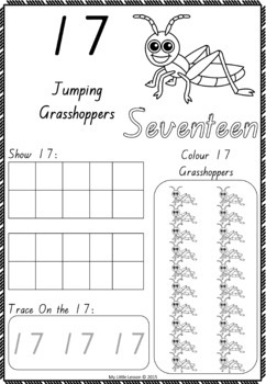 Numbers 1-20 QLD Beginners Font: Worksheets and Posters by