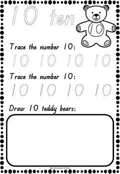 Numbers 1-20 Worksheets QLD Beginners Font by My Little