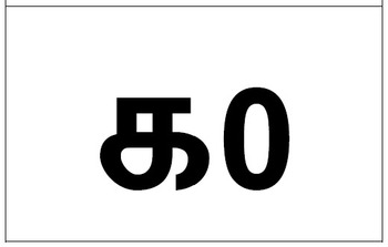 Numbers 1 to 10 in English, Tamil, Chinese, Arabic and
