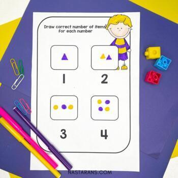 Numbers 1-20 Worksheets:Numbers To 20 Worksheets by