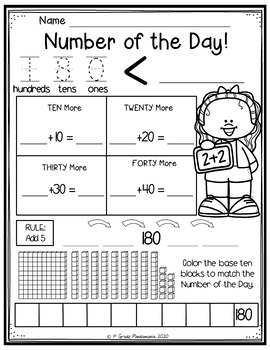 Numbers of the Day BUNDLE for the Year! Numbers 1-180! by