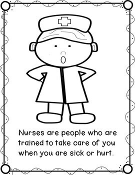 Nurse Read and Color Book, Thank You, Nurses! FREEBIE by